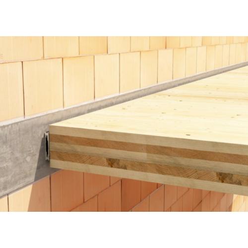 Rothoblaas LOCK-C rejtett alu fal-gerenda vagy berton-gerenda kapcsolat 70x120 mm